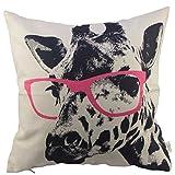 HOSL Animal Style Giraffe Pink Glasses Sofa Simple - Best Reviews Guide