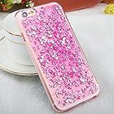 iPhone 6 / 6s TPU Glitzer Hülle   Glitter Schnipsel Folie Optik Design Schutzhülle   Crystal Case mit Glitzer Flocken Bling Bling Muster   Movoja   iPhone-6 pink