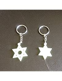 Tej Gifts - Set Of 2 - Star - Glow In The Dark Radium Key Chain Keyring