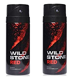 Wild Stone Red Deodorant For Men 150 ML (Pack of 2)