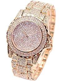 ❤️ Amlaiworld Reloje Mujer reloj deportivo baratos Reloj de pulsera Relojes de cuarzo analógico para mujer Diamantes de negocios (oro rosa)
