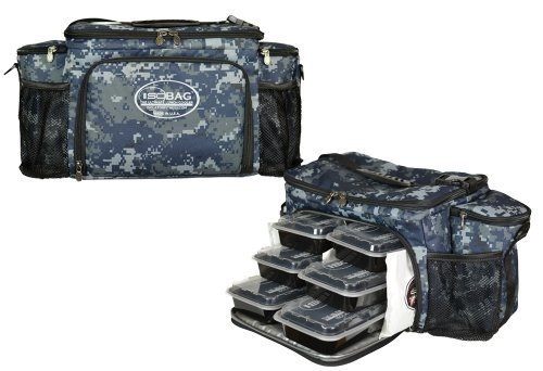 Isobag 6 Meal Management System/Military US Navy Full Camo Edition/Insulated Lunch Box/Lunch Bag by Isolator Fitness -