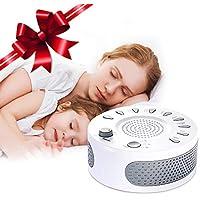 Liaboe Máquina de Ruido Blanco, Máquina del Sueño con 9 Natural Sonido, 15/30/60 Minutos Tiempo de Dormir para Bebé, Adulto, Oficina o de Viaje