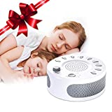 [2019 New Version] Sleep White Noise Machine, Liaboe Sound Machine for Baby, Adult, 9 Natural Sound Therapy for Insomnia, Office and Travel, Auto-Off Timer, Sound Conditioner, USB or Battery Powered