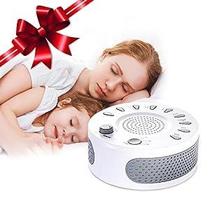 White Noise Machine, Schlafmaschine 9 Beruhigende Natural Geräuschen, USB Wiederaufladbare Entspannung Einschlafhilfe Geräuschgenerator Geräuschunterdrückung für Baby Erwachsener Insomnia Traveller