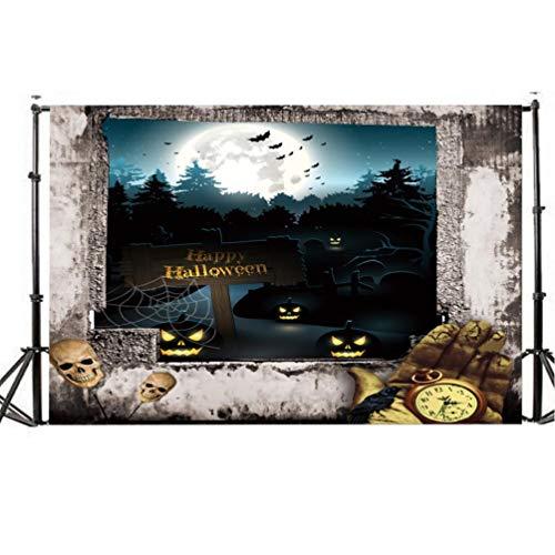 TianranRT Halloween Kulisse 5x3FT Laterne Hintergrund Fotografie Atelier Dekoration (I)