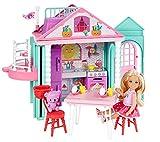 Barbie Chelsea, casa de muñecas Casita con accesorios, juguete +3 años (Mattel DWJ50)