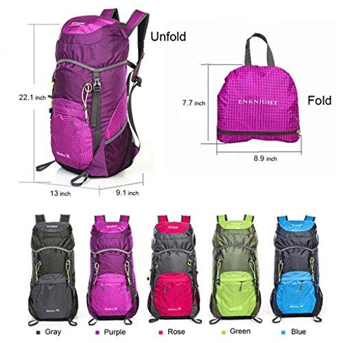 enknight 40L Wandern Rucksack Wandern Pack Travel Tasche Tagesrucksack Violett
