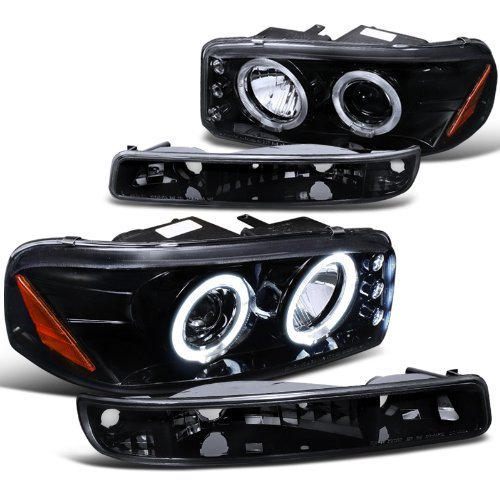 gmc-sierra-sl-sle-denali-proj-halo-led-headlights-bumper-lights-smoke-by-spec-d-tuning