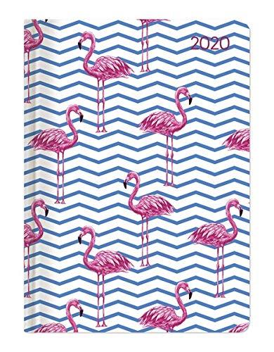 Minitimer Style Flamingos 2020 - Taschenplaner - Taschenkalender A6 - Weekly - 192 Seiten -...
