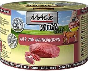 MACs Cat Kitten Kalb & Hühnerherzen | 6x200g