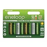 Panasonic eneloop Botanic, Ready-to-Use Ni-MH Akku, AA Mignon, 8er Pack, min. 1900 mAh, 2100 Ladezyklen, starke Leistung und geringe Selbstentladung, Limitierte Sonderedition