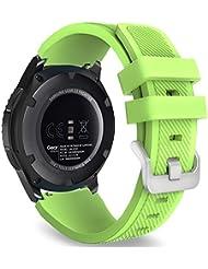MoKo Samsung Gear S3 Frontier / Classic / Moto 360 2nd Gen 46mm Watch Armband - Silikon Sportarmband Uhr Band Strap Erstatzband Uhrenarmband für Samsung Gear S3 Classic Samrtwatch, Grün (Nicht für Gear S2 Classic)
