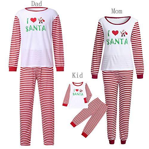 Amphia - Papa/Mutter / Junge/Mädchen / Baby Pyjama Anzug, Mädchen Kleinkind Kinder Baby T-Shirt Hosen Weihnachten Outfits Set Kleidung Nachtwäsche (Anzüge Kleinkinder Weihnachten Für)