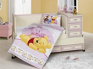 parure housse de couette 90 x 130 cm 1 taie d oreiller 40 x 60 cm bebe winnie. Black Bedroom Furniture Sets. Home Design Ideas