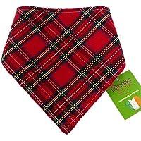Dimples Hundehalstuch - Schottenkaro rot (Handgemacht für alle Größen und Rassen) 30cm