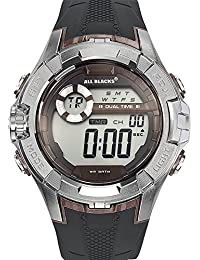 All Blacks - 680232 - Montre Homme - Quartz Digital - Cadran Marron - Bracelet Plastique Noir