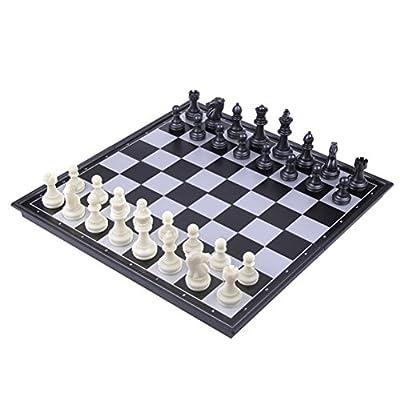 TOYMYTOY Jeu d'échecs de voyage d'échecs en plastique magnétique avec des jouets éducatifs de conseil d'échecs se pliants pour des enfants et des adultes