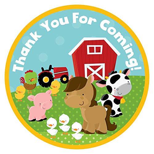 orations - EU Tiere auf dem Bauernhof danken Ihnen Aufkleber Aufkleber - Jungen-Mädchen-Geburtstags-Baby-Duschen-Partei liefert - Set 30 ()