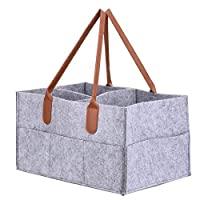 Felt storage caddy Baby Diaper Caddy Organizer Basket Portable Storage Bin Large Nursery Bag