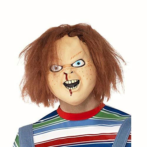 B-Creative Adult Childs Spielen 2 Chucky mask und Wig Spooky Halloween Fancy Kleid (eine Größe)