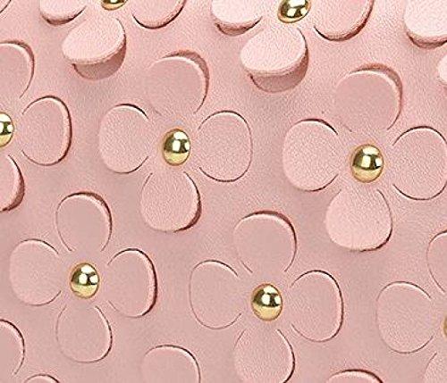 Neue Dreidimensionale Blumen Kettenpaket Koreanische Art Und Weise Troddel Diagonale Weibliche Paket Pink