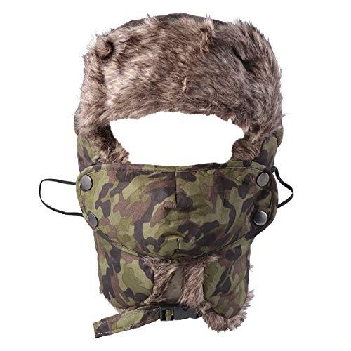 ... Cappello 1 x Maschera. Clispeed Inverno Trapper Hat Ushanka Faux Fur  Foderato Orecchio Falda sottogola e Maschera Antivento Inverno Caldo ee13cfaa4696