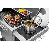 ProfiCook PC-GG 1058 Gasgrill, 3 Edelstahlbrenner + 1 zusätzliche Kochstelle, 3 Heizzonen für individ. Temperatursteuerung, stufenlose Temperatureinstellung, herausnehmbarer Fettauffangbehälter, Temperaturanzeige, Edelstahlfront und -haube - 3