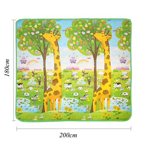Baby Play Mat child activity foam floor soft kid eductaional toy gift gym crawl – 200 x 180cm