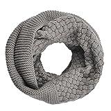 Butterme Winter Warm Weicher Unifarben Loop Schal Gestricktes Schlauchschal for Damen(11 Farben)