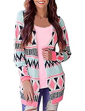 AILIENT Donna T Shirt Vintage Manica Lunga Eleganti Lunga Basic Primavera Orlo Irregolare Cardigan Blusa Camicia...