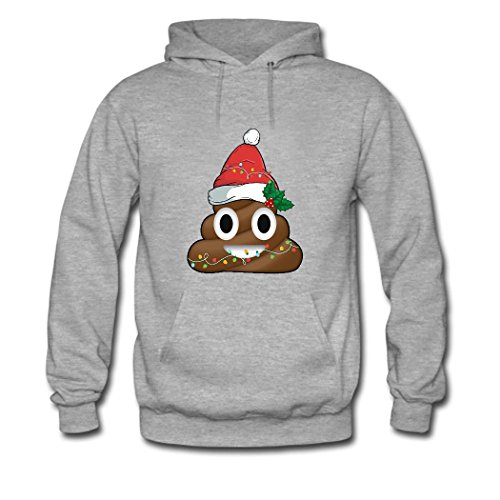 HKdiy Smiling Poop Emoji Custom Men's Classic Hoodie Gray