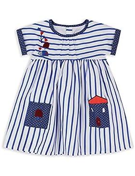 The Essential One - Bebé Infantil Niñas Vestido de Rayas - Azul/Blanco - EOT555