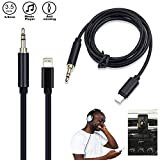 Going Car Aux Cable for iPhone 7/ 7 Plus, Lightning to 3.5mm Premium Auxiliary Audio Cable Audio Cable (3ft / 1m) to Home / Car Stereos, Supports IOS 11 or Later