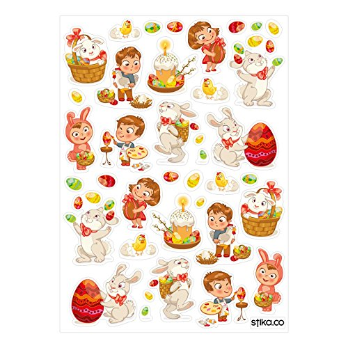 happy-easter-coloured-eggs-bunny-basket-stickers-set-of-42-stickers-seasonal-decorations