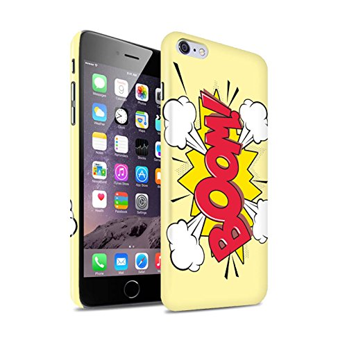 STUFF4 Glanz Snap-On Hülle / Case für Apple iPhone 6S+/Plus / Krunch Muster / Comics/Karikatur Wörter Kollektion Boom!