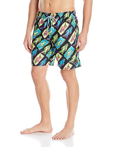 f81c43893239 Maui & Sons Men's Agro Swim Trunk, Black, Large