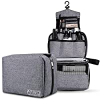 Onesea Hanging Travle Toiletry Bag, Shaving Dopp Kit Bags Water Resistant Bathroom Toiletries Organizer Foldable Shower Caddy Case for Men and Women (gray)