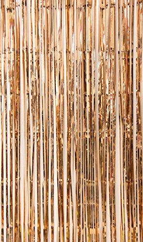 hang rosé-Gold Party Dekoration 91x240cm Folie Türvorhang (Rose Gold) ()