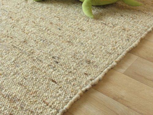 Teppich schurwolle  Landshut Handweb Teppich aus 100 % Schurwolle - natur, Größe ...