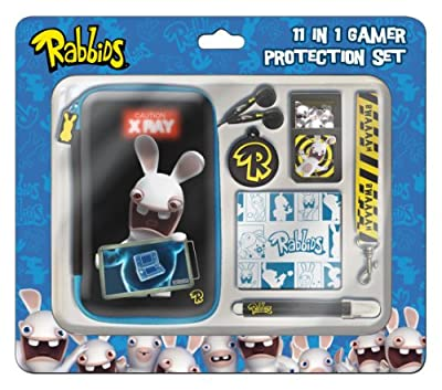 Raving Rabbids 11pc 3D Protection Set (Nintendo 3DS/DSi/DSi XL) by GameOn