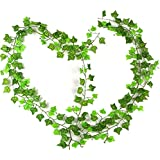 COOLCASE 10 pezzi, motivo: Edera artificiale, in seta, simulazione di foglie e fiori, decorazione da giardino, ARTI22, Confezione da 12