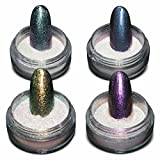 BMC Super Cute 4pc Sparkly Iridescent Nail Polish Art Loose Powder Set-Stardust