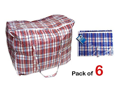 6-x-large-strong-laundry-storage-shopping-bag-reusable-store-zip-bags-new