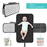 Alfheim Portable Nappy Changing Mat, Waterproof Foldable Baby Changing Kit, Soft Pillow Diaper Pad Keep Baby Clean for Home Travel Outside