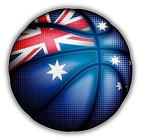 Australian Flag Basketball Ball Decor Autocollant De Voiture Vinyle 12 X 12 cm