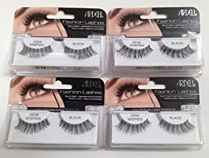 Ardell Fashion Lashes Black Demi Wispies (Pack of 4) by Ardell