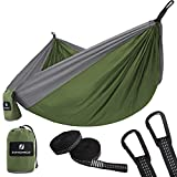 SONGMICS Camping Hammock Ultra-Lightweight Portable Swing Bed Breathable Parachute Nylon 275 x 140
