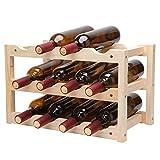 BAYUE 12 bouteilles de vin rouge bricolage titulaire de la bière porte cuisine bar...