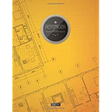 """TULPE Blanko Notizbuch A4 """"C031 Skizzenbuch"""" (140+ Seiten, Vintage Softcover, Seitenzahlen, Register, Weißes Papier - Dickes Notizheft, Skizzenbuch, Zeichenbuch, Blankobuch, Sketchbook)"""